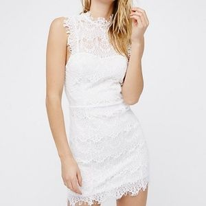 Daydream Bodycon Lace Slip Mini Dress Large